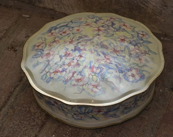 Grandma's flowered cookie tin
