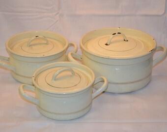 Enamel ware cooking pot set