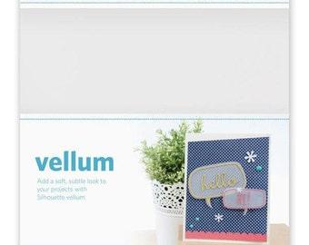 Silhouette America Vellum Paper 6 - 8.5 x 11 Translucent White Sheets