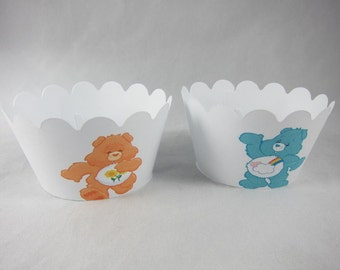 Set of  Care Bears cupcake wrappers