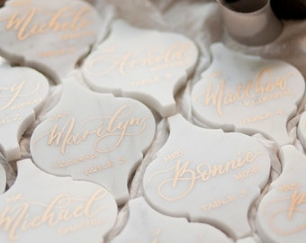 Carrara Marble Placecards in Lantern Shape-Min. Order of 30 (DO NOT PURCHASE)
