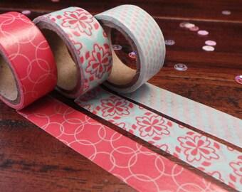 Washi tape - set of 3 - several varieties