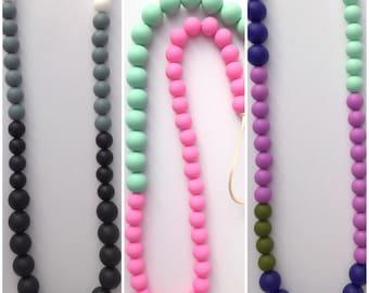 Custom #naptime style teething necklace
