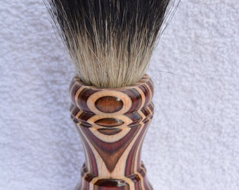 Awesome Handmade Multi Colored Wood Badger Hair Shaving Brush 24mm