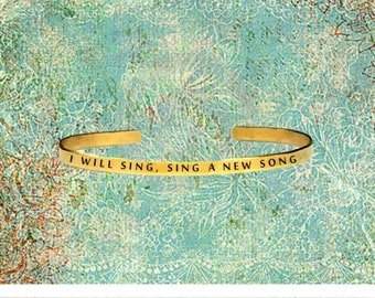 """I Will Sing, Sing A New Song 