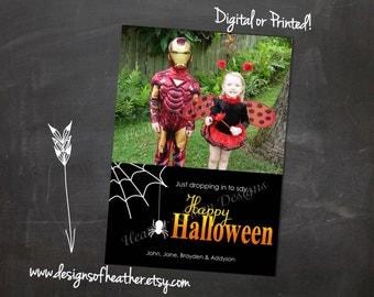 Dropping In Digital Halloween Photo Card