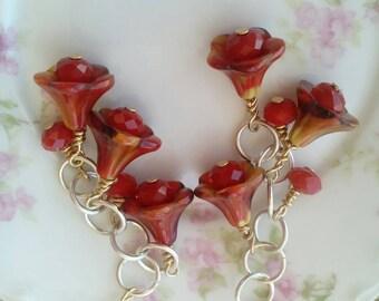 rustic mixed metal earrings