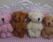 Miniature Plush Teddy Bear. Dollhouse Toys, Bears, Bedroom Accessories. Key Chain. Handmade Key Chains. Bear Key Chains. Women's Key Chains