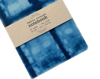 Indigo Shibori Fabric Covered Notebook