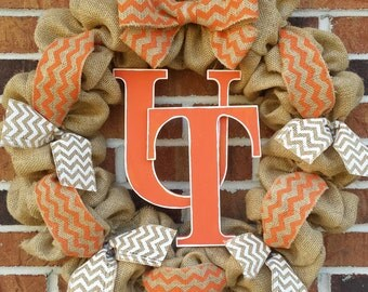 Burlap University of Tennessee UT Vols Wreath
