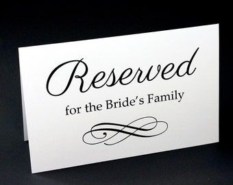 Reserved table sign etsy for Reserved seating signs template