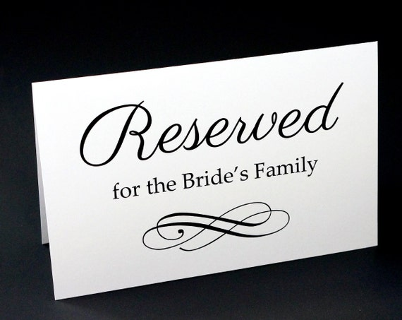 Delicate image within printable reserved table sign
