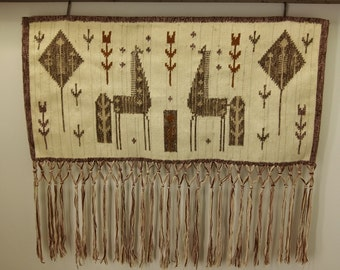 Woven wall hanging decoration