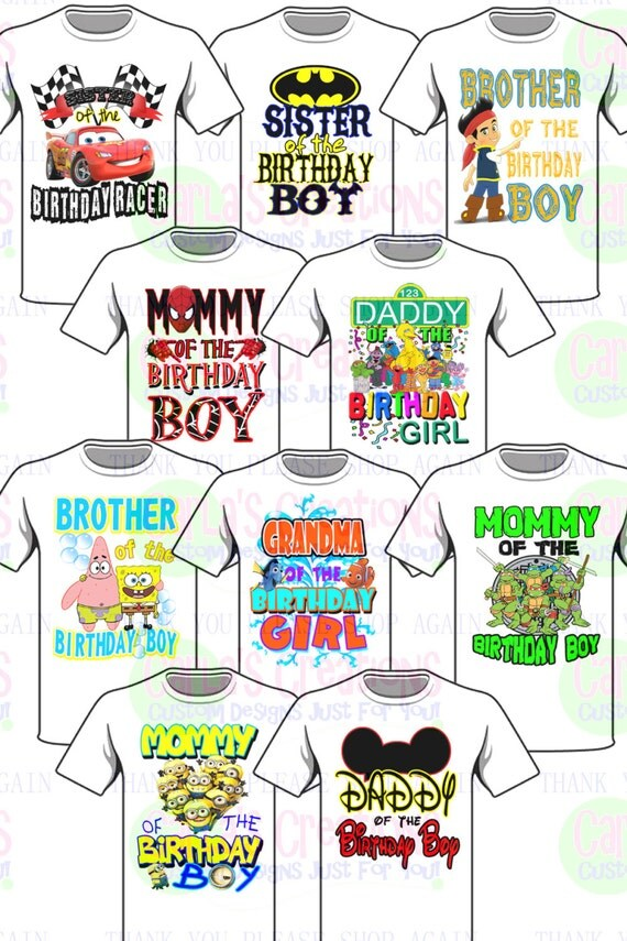 Family Title Tees Any Character