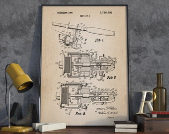 Fishing Reel Patent Print, Fishing Patent Poster, Fishing Hobby, Home Decor, Patent Print - DA0139