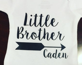 Little Brother Onesie, Sibling Shirt, Little Brother Shirt, Baby Shower Gift, Picture Outfit, Homecoming Onesie, Arrow Onesie