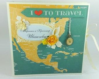 Travel Scrapbook album, Love Scrapbook Album, Family Scrapbook Photo Album, Love Memory Book, Custom Made Love Photo Album