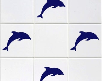Pack of 18 Dolphin Tile Stickers