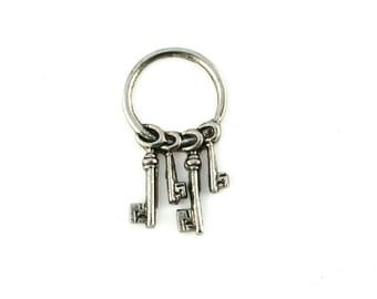 Qty. 4 Tiny Keys-Solid non movable