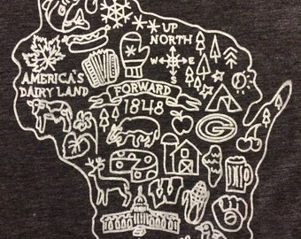 All things Wisconsin t-shirt