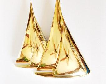 Vintage Dart Ind Wall Sconce 3 Arm Candle Light Holder Gold