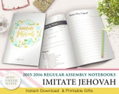 JW Circuit Assembly Regular Notebook - Imitate Jehovah - 2015-2016