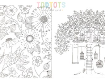 Card - Creative Colouring Gift Card (Flower) - 2pcs | Greeting Cards | Animals | Gift Ideas | Festives