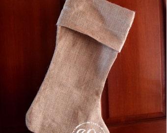 Burlap Jute Stockings Monogrammed Personalized