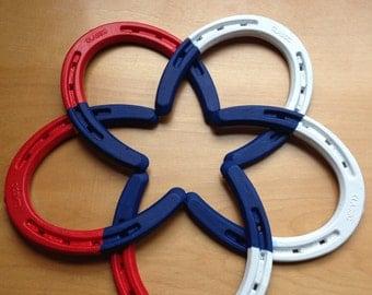 Patriotic Horse Shoe Star
