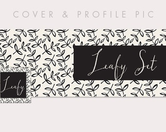 Timeline Cover + Profile Picture | Leafy | Cover, Profile Picture, Branding, Blog Header, Web Banner | EB154