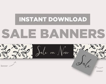 Shop Sale Banner | INSTANT DOWNLOAD | Avatar + Store Banner | Leafy | EB154