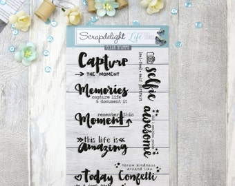 Scrapdelight Clear Stamps - Capture the Moment