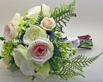 ANGELINA, Bridal Bouquet, Wedding accessories and decorations, Silk Flower arrangement.