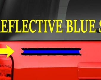 8 inch (F6) Thin Blue Line Cop Police Vinyl Decal Sticker Car Window