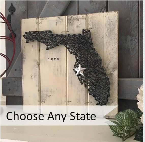 State outline state wall art state string art by for Penn state decorations home