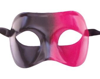 Black and Red Galaxy Fade Masquerade Mask