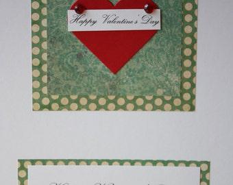 Personalised Heart Valetines Card