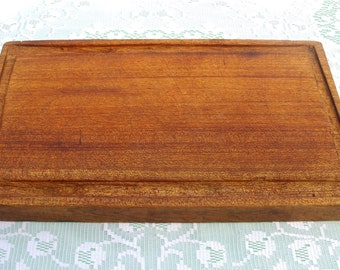 French Vintage Cutting Board. Thick French Chopping Block or Cutting Board in Primitive Wood