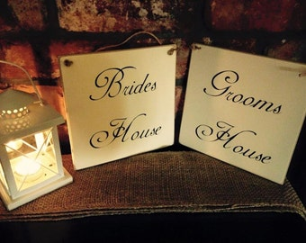 WEDDING - Brides and Grooms House Plaque / Sign