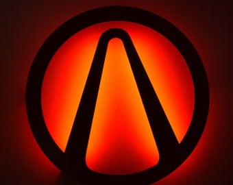 Borderlands Vault Symbol - LED Backlit Floating Metal Wall Art