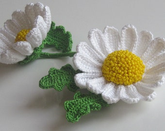 Brooch with a camomile