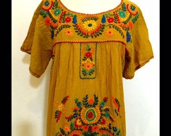 Pong Mexican embroidered dress