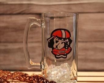 Cleveland Browns Glass Beer Mug