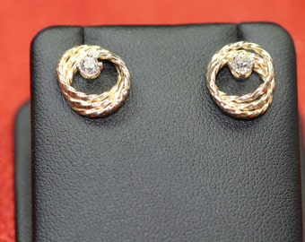 Vintage 14K and Old European Cut Diamond Earrings