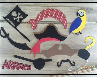 Pirate Photo Booth Props, Pirate Party, Pirate Party Supplies For Kids, Pirate Party Games, Pirate Themed Birthday Party, Kids Photo Props