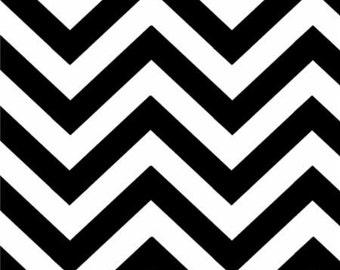Moda Basic Geometric Half Moon Medium Zig Zag Black White - 32216 12