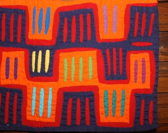 TWO Matching Authentic Molas art, from the Kuna Indians, Panama, the San Blas Islands