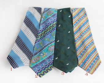 Vintage Wide Neck Ties, Mens Neckwear
