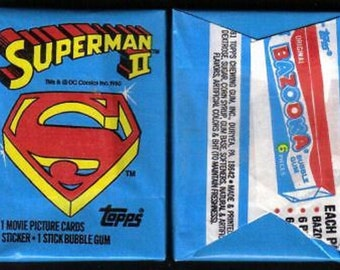 1980 Topps Superman II Wax Packs Unopened 2 Packs