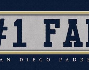 San Diego Padres-Free Shipping -#1 DAD or #1 FAN Jersey Stitch Framed Print-MLB
